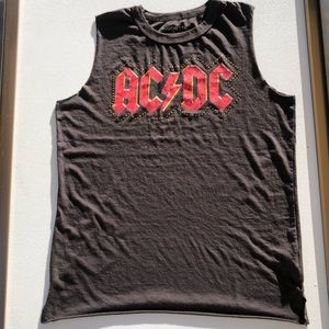 Lucky Brand /Mouchette Graphic AC/DC tee